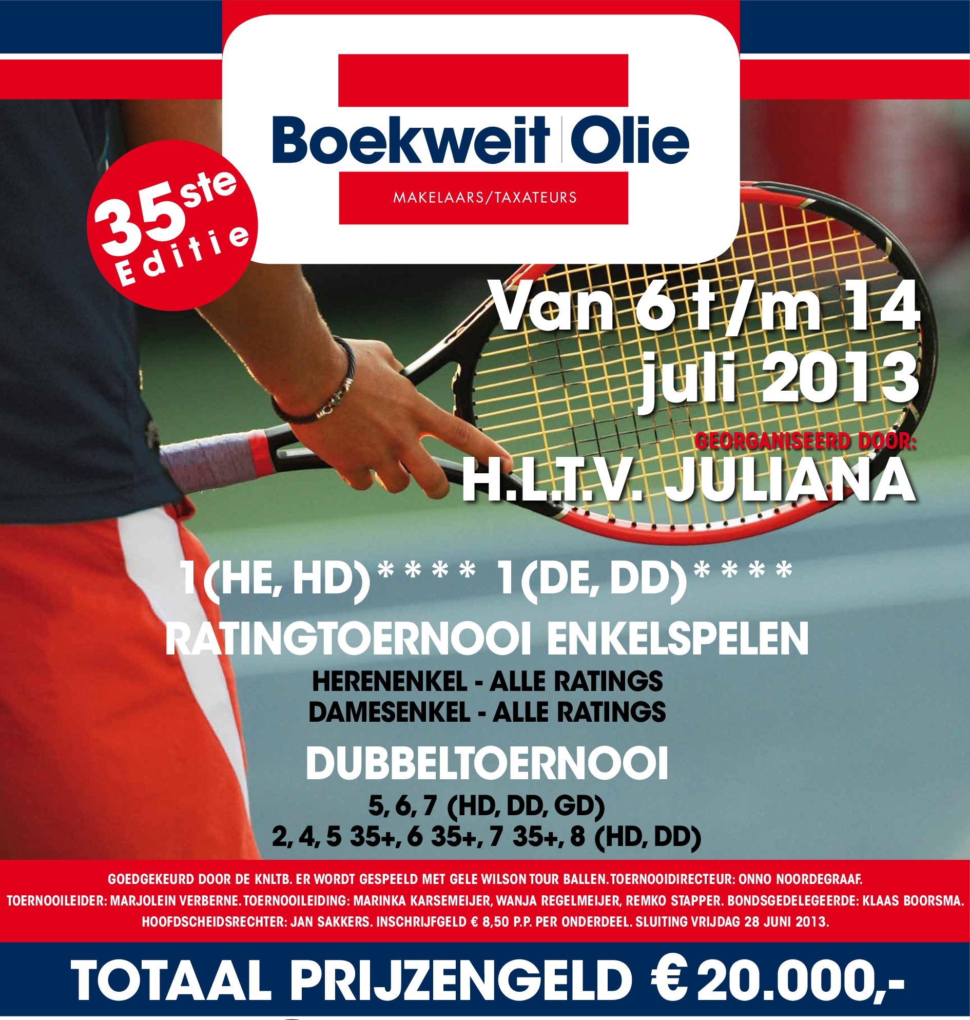 Affiche Boekweit Olie Tennis 2013